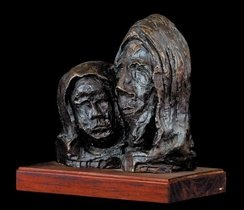 Mother and Christ * Moeder en Christus - Bronze - Father Frans Claerhout