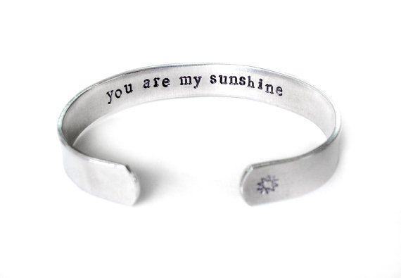u bent mijn zonneschijn sieraden, de geheime boodschap Manchet armband, de beste vriend sieraden, de gift voor dochter, inspiratie sieraden, handgemaakte