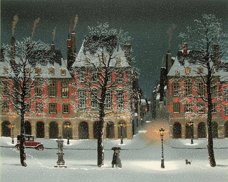"""""""Declaración de amor bajo la nieve"""". Michel Delacroix (Francia, 1933- )"""