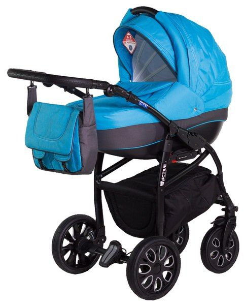 Детская коляска Adamex 2 в 1 Active 10M  Цена: 260 USD  Артикул: mp60415  Детская коляска Adamex 2 в 1 Active – многофункциональная, глубокая коляска 2 в1 на легкой, алюминиевой раме, с надувными колесами. Основным преимуществом коляски является безопасность малыша, и простота в обслуживании. Коляска обладает очень простой системой крепления люльки или прогулочного блока. Оба модуля обшиты качественной, гипоаллергенной тканью и имеют откидной солнцезащитный козырёк. Модули устанавливаются на…