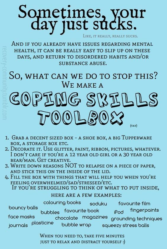 Great idea... Coping Skills - Coping Toolbox