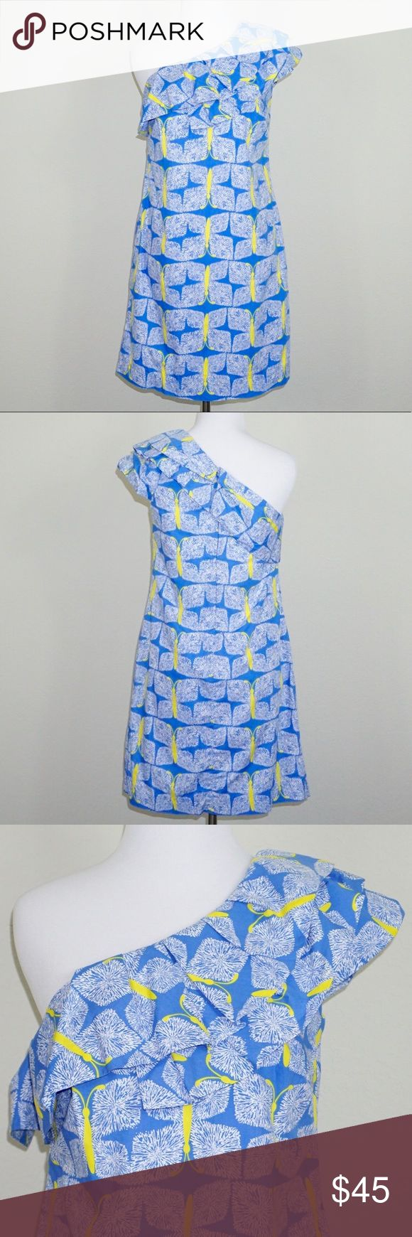 "Lilly Pulitzer Sandra Butterfly Print Dress ✨Condition: Excellent, Pre-owned ✨Measurements (approx. when flat): Length 34"". Pit to Pit 15"" ✨Features: Hidden zipper in back. Fully lined.  ✨Feel free to make an offer -or- Add to Bundle to receive an exclusive discount! Lilly Pulitzer Dresses One Shoulder"