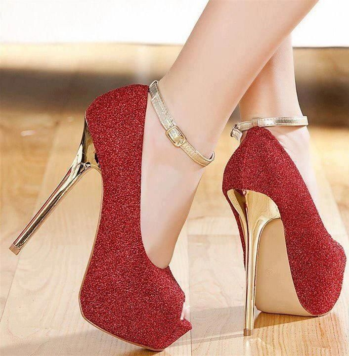 beautiful and gold high heels best foot forward