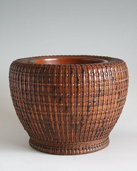 Maeda Chikubosai I (1872-1950), Hibachi Brazier - BambooTokyo.com - Japanese Bamboo Basket -