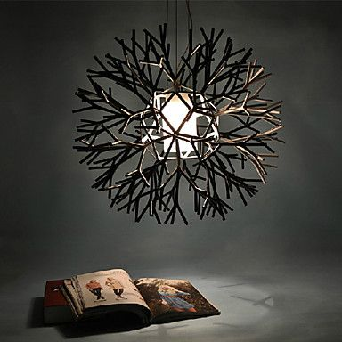 Max 40W Pendant Light ,  Modern/Contemporary Painting Feature for Mini Style Metal Bedroom / Dining Room – USD $ 168.99