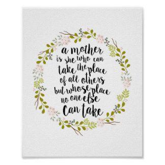 Een moeder is alles Citaat Poster