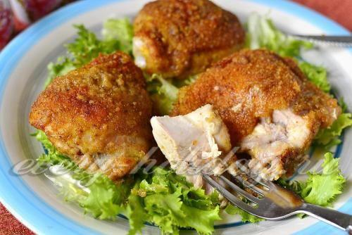 Курица в сухарях «Праздничная» в духовке