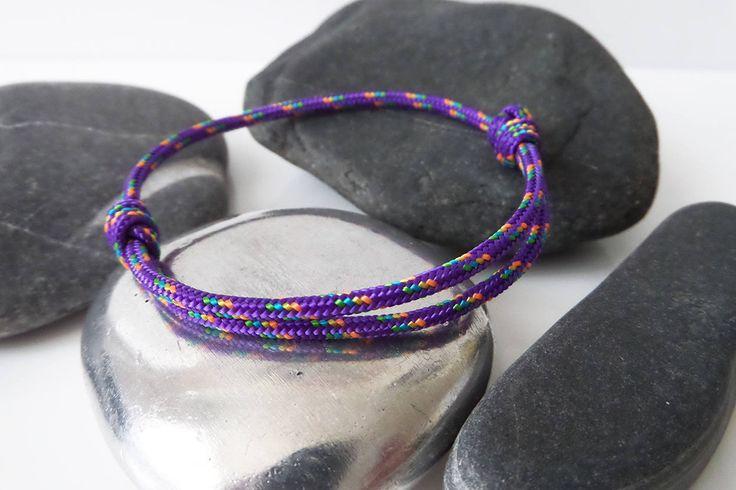 Bracelet nautique corde drisse VIOLETTE Bracelet porte bonheur femme homme Bracelet marin été 2017 Bracelet VIOLET Bateau Escalade Fashion de la boutique BBSdeParis sur Etsy