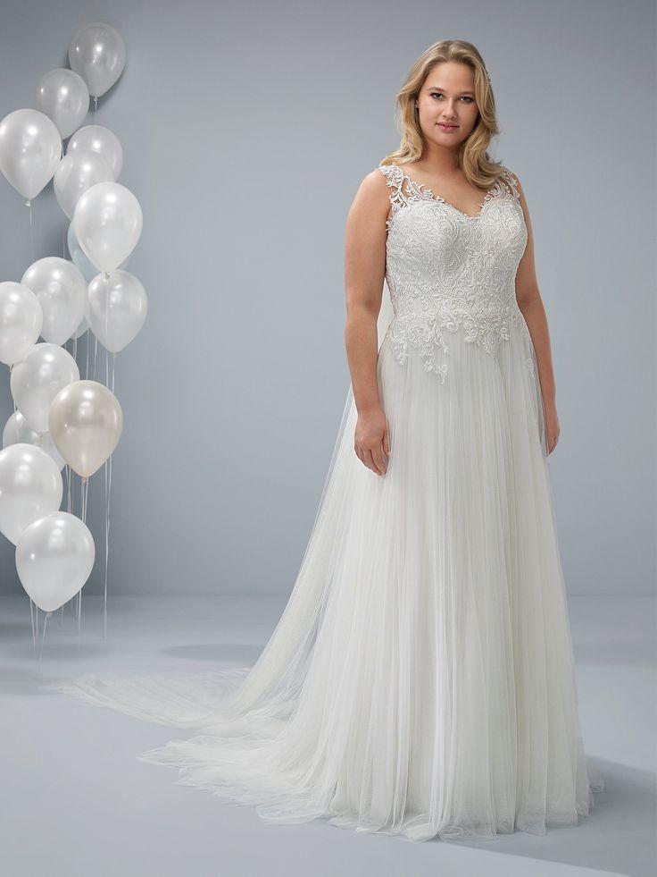 ocal plus wedding dress sleeveless with a v neckline kleider