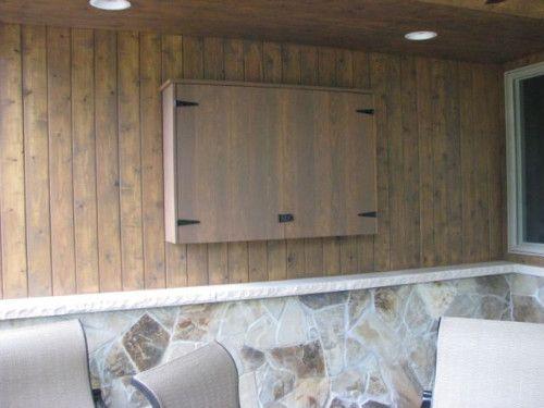 Outdoor Tv Cabinet Outdoor Ideas Pinterest Wall