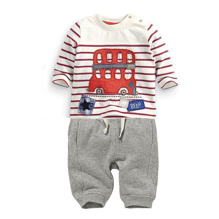 Baby Boy Double Decker Bus Shirt & Pants