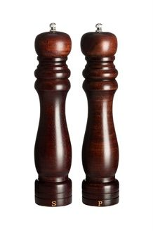 Moinhos de pimenta e sal hevea e cerâmica - 27 cm