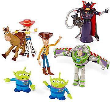 Disney Toy Story Action Figure Set. Help your little ranger protect the old west and last frontier with these posable Toy Story action figures.