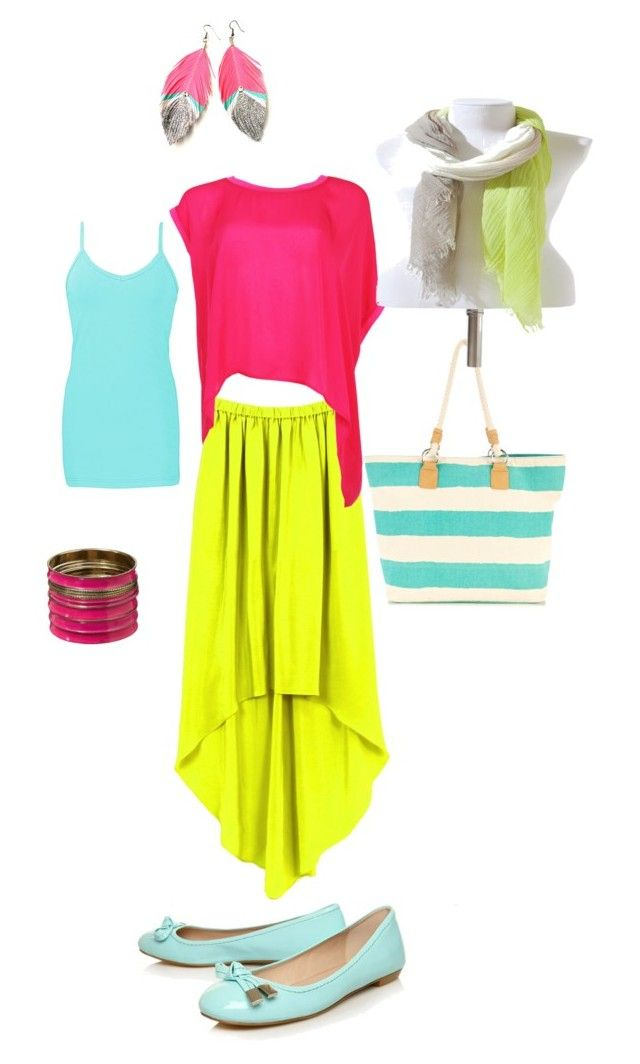 Day around town by lisastewartliving on Polyvore featuring polyvore, fashion, style, BKE, Cut25, Carvela, Wallis, Jane Norman, Zara, clothing, neon, fun, casual and bright