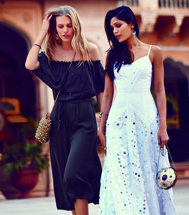 @Who What Wear - Freida Pinto Falls In Love In Free People's Latest Film