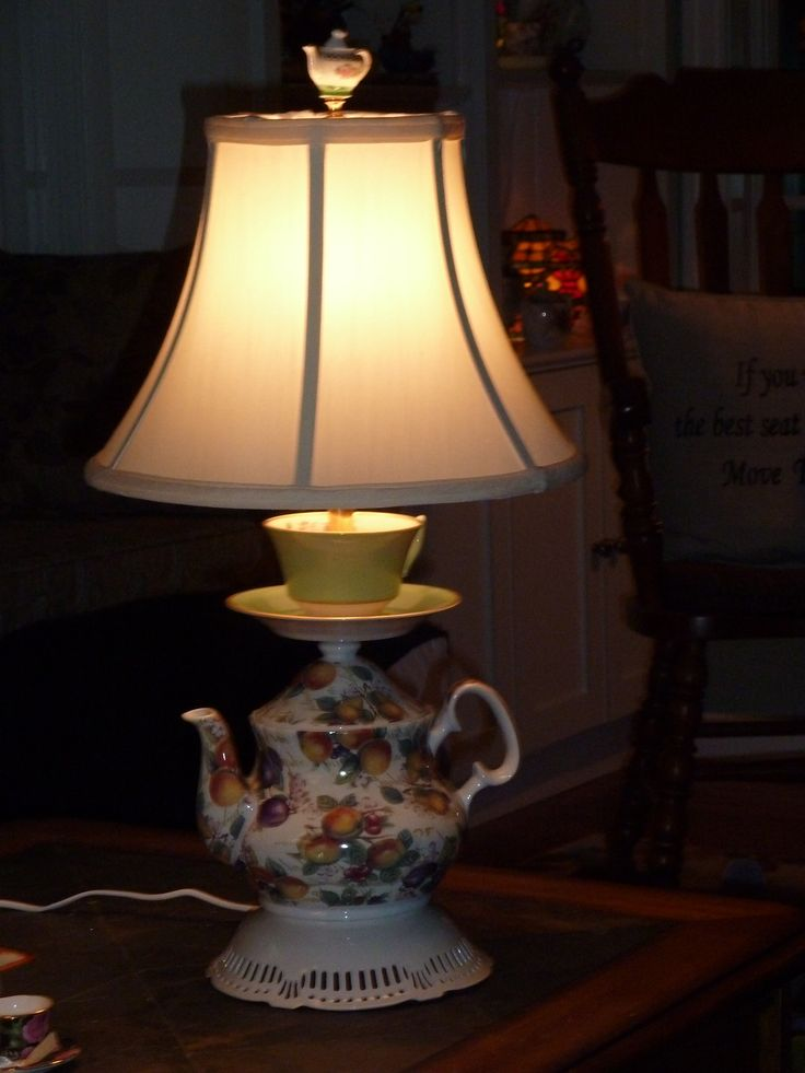 Best Images About Teapot Lamps Pinterest Vintage Table Floor And Lamp Shades
