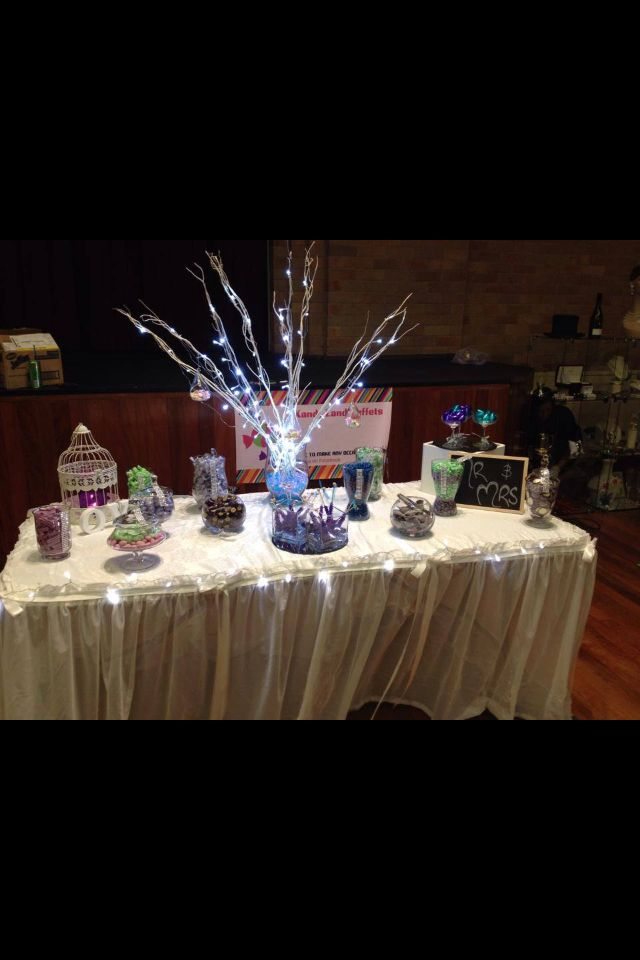 Wedding expo candy buffet