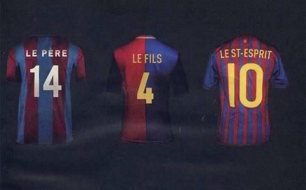 Futbol Club Barcelona Saint Trinity (Johan Cruyff, Pep Guardiola and Leo Messi)