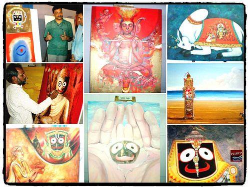 Nila kandar art exhibition of Lord Jagannath Paintings PURIWAVES