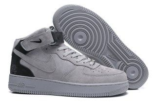 5515929d8704 Mens Womens Nike Air Force 1 Mid Reigning Champ Reflective Grey Black  807618 200 Running Shoes
