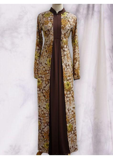 Batik abaya dress