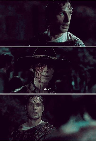 The Walking Dead Season 6 Episode 9 'No Way Out' Rick and Carl