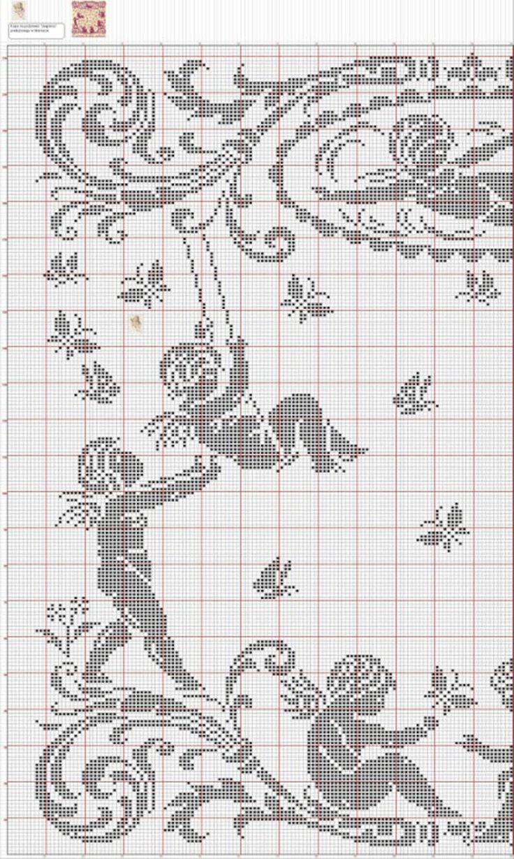 Альбом  Ангелочки крючок филе схема 4.1