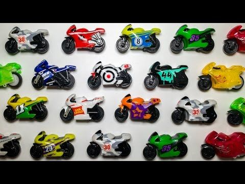 Toy Motorcycles Collection Toys & Games Video 미니 오토바이 장난감 놀이 игрушка мотоцикл - YouTube