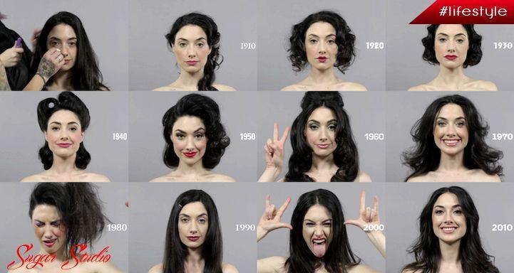 Un secol de frumusete intr-un singur minut. Vezi transformarile standardelor estetice femine in decursul doar unui singur secol. Citeste tot articolul: http://sugarstudio.ro/un-secol-de-frumusete-intr-un-singur-minut/ #frumusete,#lifestyle,#articol,#doarfete