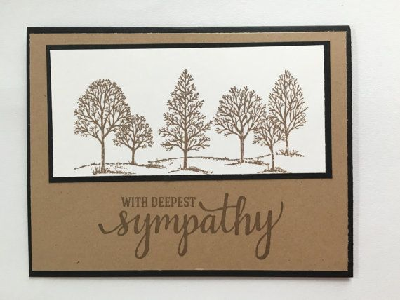 Lovely sympathy card. Love the colors and by CardStampinGranny