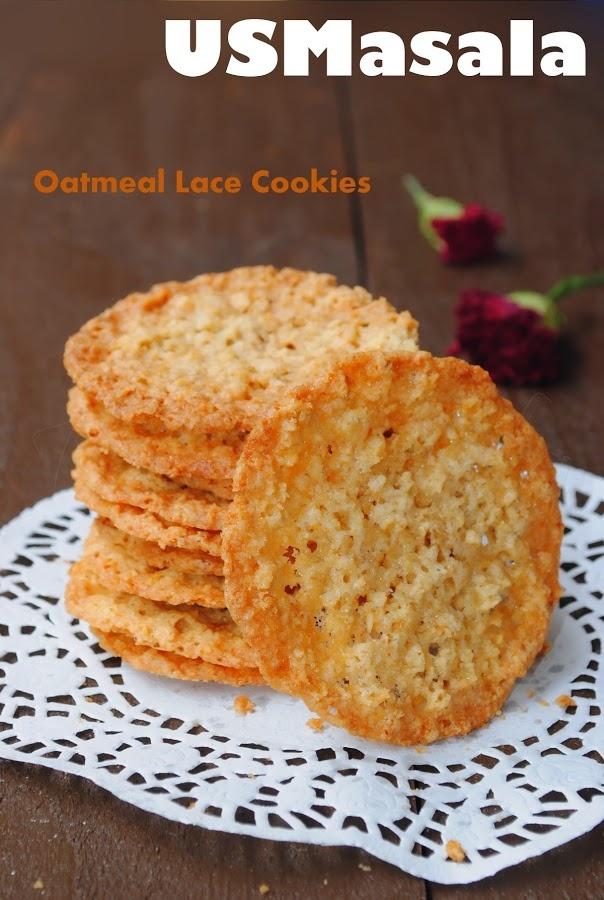 US Masala: Oatmeal Lace Cookies   food   Pinterest