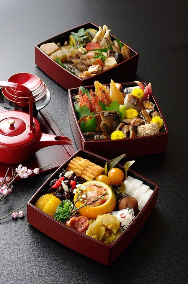 Osechi-ryori おせち料理 - Japanese special New Year meals traditionally made before New Year's Day, and meant to last for 7 days without refrigeration. The original reason for needing it to last for 7 days is that there is a 7-day period of non-cooking to appease the fire god, Kohji. He would get upset and cause a natural hazard if you made fire so early in the year. In later years, this has changed to give housewives a rest during the New Year holidays since they worked so hard until New Year's…