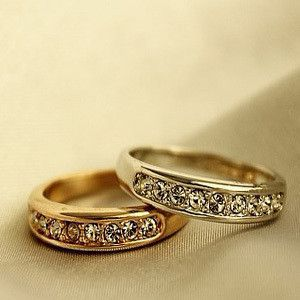Fashion small single-circle e1045 diamond pieces ring pinky ring female finger ring accessories
