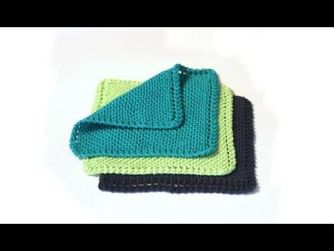 Traditional Dishcloth Pattern - Free Update - v e r y p i n k . c o m - knitting patterns and video tutorials
