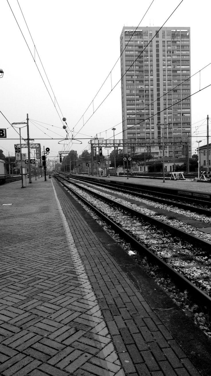 Per linee tangenziali. #Rimini #Station #railways