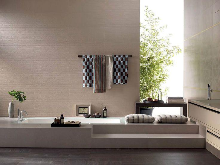 Drømmen er et innebygd badekar som dette! #flisekompaniet