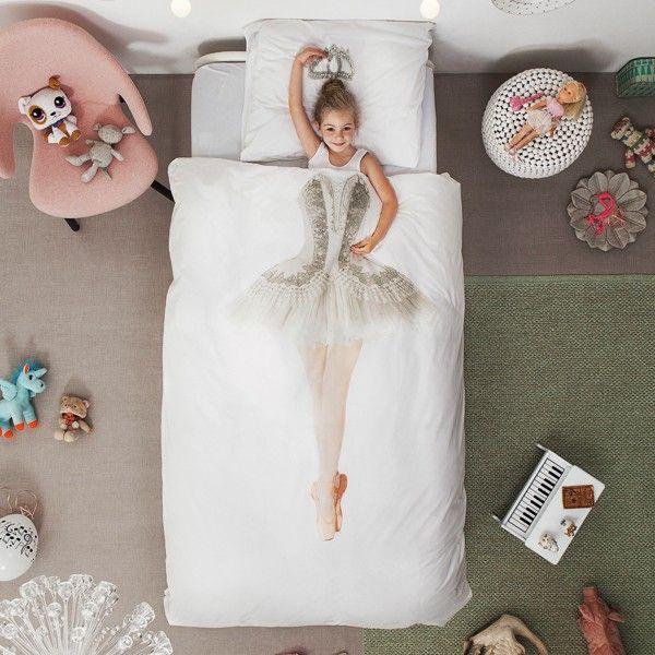 Snurk beddengoed: het Ballerina dekbedovertrek.