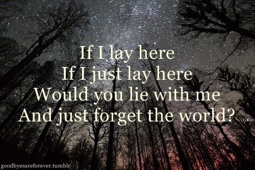 Snow Patrol. Chasing Cars. I love this for so many reasons.
