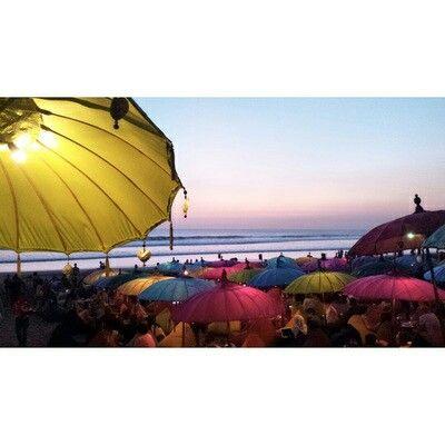 Beach umbrellas, Bali.