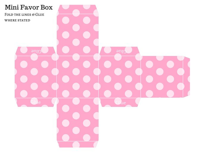 Baby Shower Favor Boxes Pinterest : Free diy favor box baby shower favors