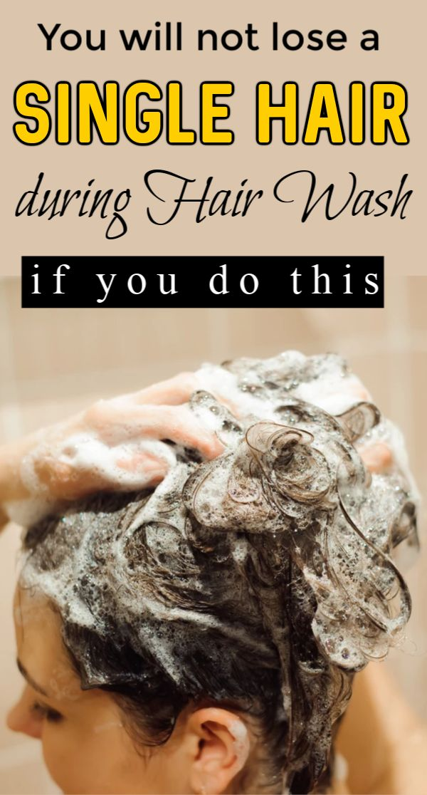 Just do this and you will never lose a single hair during ...