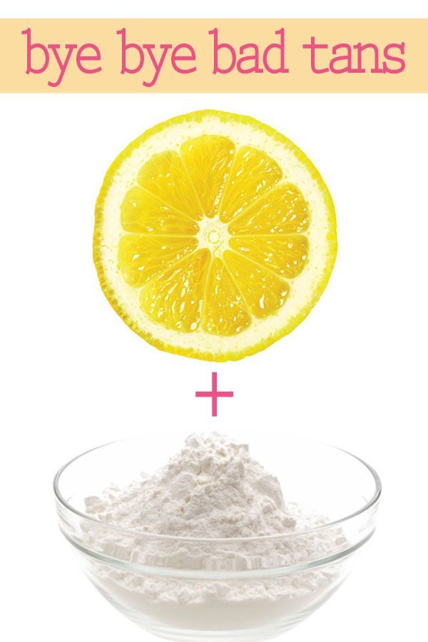 How to Fix a Bad Fake Tan {get rid of streaks in a snap}Mix together freshly squeezed lemon juice with a few teaspoons of baking soda until the powder becomes a paste (not liquid). Then take a shower and exfoliate areas of extreme streakiness using the lemon-powder mixture until the unwanted tan disappears.