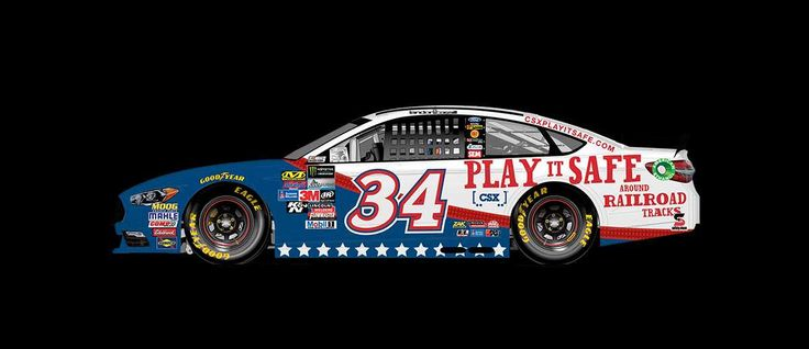 Paint Scheme Preview: Charlotte  Tuesday, May 23, 2017  Landon Cassill will drive the No. 34 CSX Play it Safe Ford.      Photo: 12 / 32
