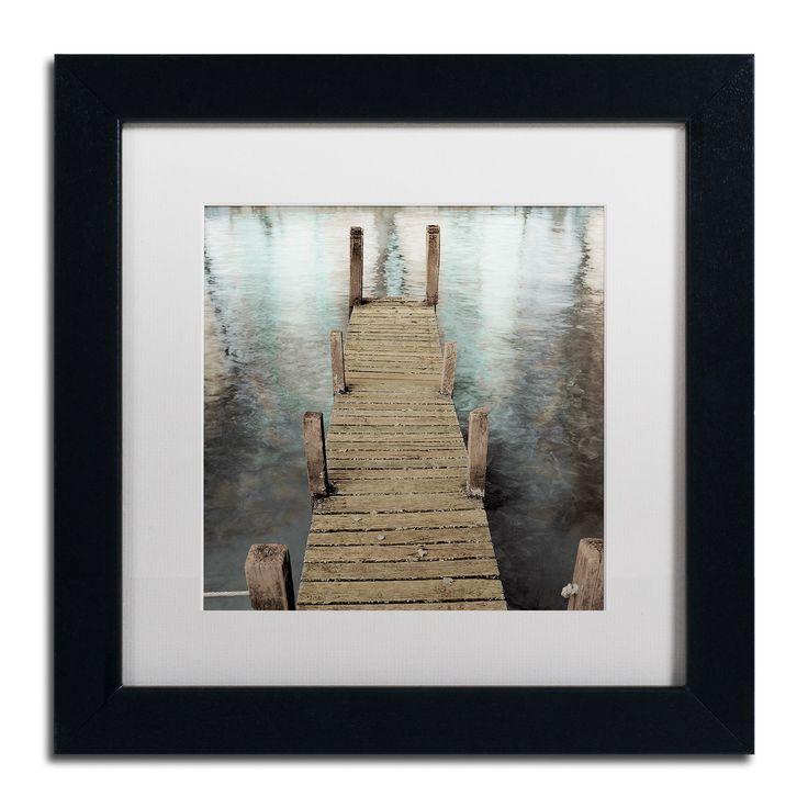 Alan Blaustein 'Annecy Pier' Matted Framed Art