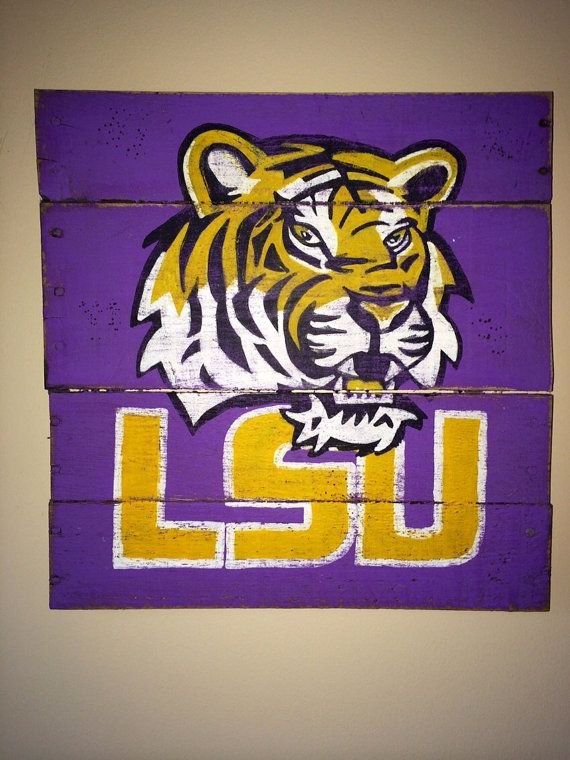 Hey, I found this really awesome Etsy listing at https://www.etsy.com/listing/175187942/lsu-wall-hanging