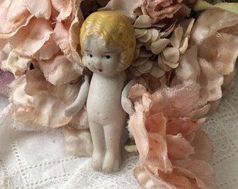 Tiny Bisque Doll 1920s