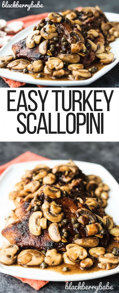 Easy Turkey Scallopini | Turkey Breast Recipe | Easy Scallopini Recipe | Turkey Cutlet Recipe | Turkey Mushroom Recipe | Turkey White Wine Sauce | Turkey Chop Recipe | #ad #700reasons