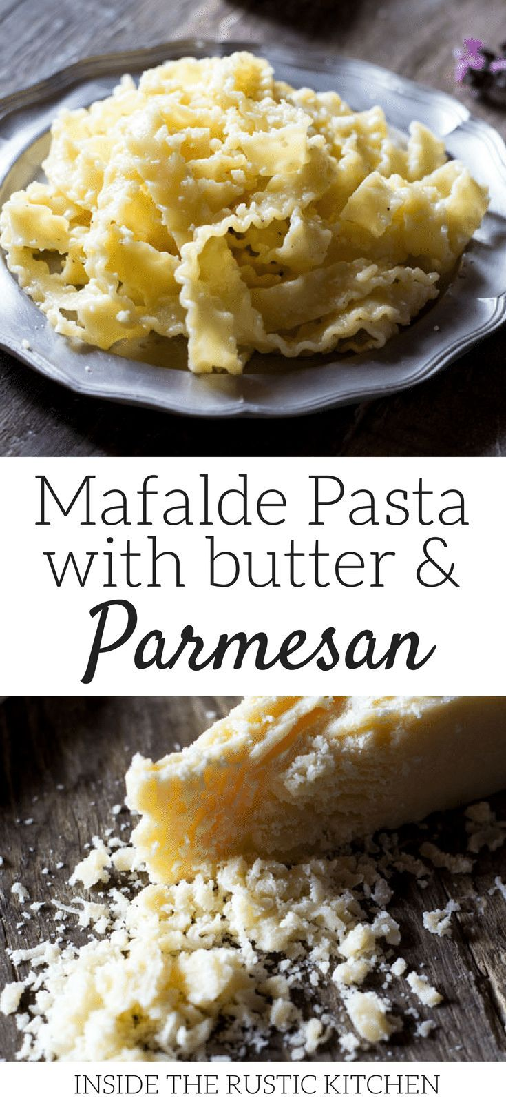 Mafalde Pasta With Butter And Parmesan Cheese This Recipe Is Incredibly Easy And Is Perfect