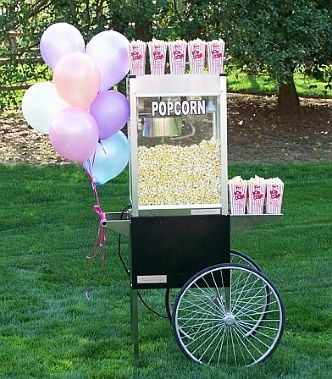 Tie ballons to the #Popcorn Cart