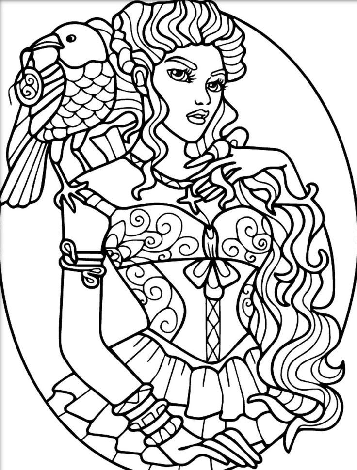 adult coloring pages for women | 755 best images about Beautiful Women Coloring Pages for ...